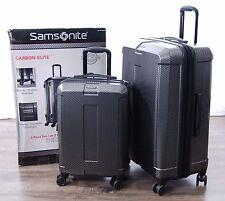 """Samsonite Carbon Elite Hardside Spinner Suitcase Set Silver 2pc Carry-on 20"""" 28"""""""