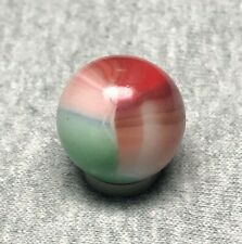 Vitro Agate Beautiful 4 Color Patch-type w/  Pink Beautiful! * Vintage Marbles