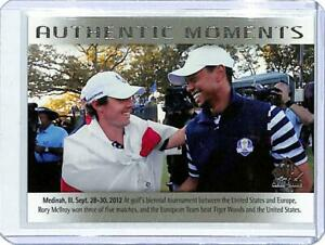 2014 SP Authentic #75 Rory McIlroy Tiger Woods Golf Card Ryder Cup AM ID:10149