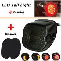 LED Tail Light Brake Turn Signal Smoke Lens For Harley Tour Road King Glide Dyna