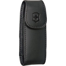 Victorinox Swiss army Black Leather Pouch W/Belt Clip 33256 fits 91mm / 3.5''