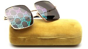 NEW GUCCI GG0414S 003 GOLD SUNGLASSES 60-17-140mm Japan