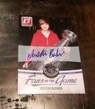 JUSTIN BIEBER 2010-11 Donruss Fans of the Game Autograph Auto SSP