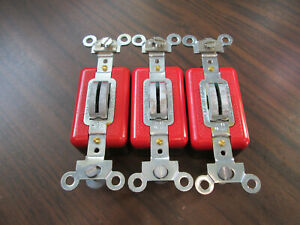 Lot of 3 NNB No Key Arrow Hart AH1991L Locking Single Pole Switch 20A 120/277V