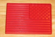 RED PLASTIC USA FLAG COOKIE CUTTER TUPPERWARE