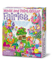 Mould and Paint Glitter Fairy Craft Kit - Model Plaster Fairy Magnets / Badges