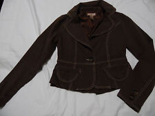Juniors Size Small FOREVER 21 Brown Jacket Blazer Long Sleeve, 1 Button, Trendy