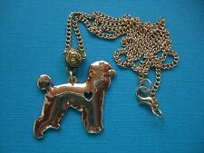 Poodle Dog Necklace & Pendant Puppy Metal Heart Love Gold Tone Standard Mini Toy
