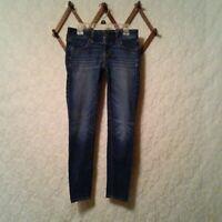 American Eagle Women's Jeans Sz 0 Mid Rise Short Jegging Skinny Denim Med. Wash