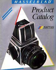 1987-1988 HASSELBLAD CAMERA SYSTEM CATALOG BROCHURE -500C/M-SWC/M-500ELX-2000FCW