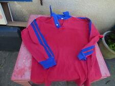 Maillot de rugby vintage Rouge et bleu porté T 6.7 du XL