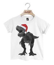batch1 T-Rex con gorro de Papá Noel Navidad Dinosaurio Novedad Festivo Niños