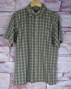 ROHAN 'Shanks' green check short sleeved shirt small