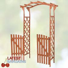 Outdoor Wooden Garden Arch Gate Trellis Climber Arbour Timber Decor Feature