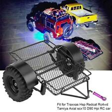 RC Cars Metal Trailer DIY w/ 90mm Tires RC Accessories for 1/10 RC Crawler Cars