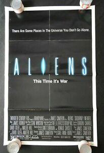 """1979 """"ALIENS"""" 27"""" x 41"""" Movie Poster Sigourney Weaver John Hurt Tom Skerritt"""