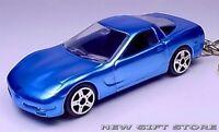 KEY CHAIN 1997~98~1999~2002~2003~2004 BLUE CHEVY CORVETTE C5 CHEVROLET PORTE CLE