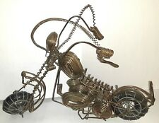 Coiled Wound Copper Wire Sculpture - Motorcycle - amazing