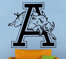 Arkansas Razorbacks Vinyl Decal Sticker Sport Home Decor NCAA Football Emblem