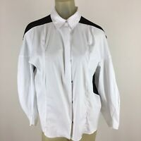 Robert Rodriguez Women's shirt blouse size Medium ? Black white sheer back