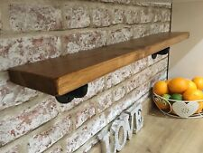 Chunky Wood Shelf,industrial Iron Steam Punk Brackets-handmade,floating,rustic