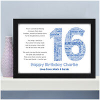 Personalised 16th 18th 21st Birthday Gifts for Him Son Brother Grandson Male Boy