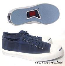 Men CONVERSE JACK PURCELL Blue White GARMENT DYE PLAID Trainers Shoes SIZE UK 11