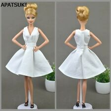 Pure White Doll Dress For Barbie Doll Party Dresses Clothes Doll Accessories