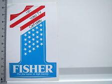 Adesivo sticker Fisher-Hifi-CarHifi-Video (5702)