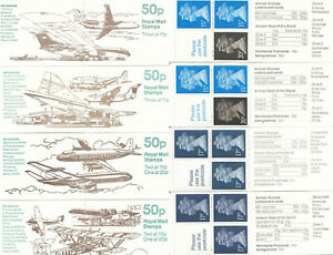 (86015) GB FB55 FB56 FB57 FB58 £1 Booklets x4 Aeroplanes 1989 - 1991
