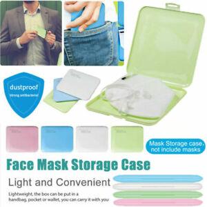 2pcs Face Mask Storage Case Face Shield Holder Portable Box Travel Organizer AUS