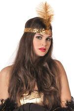 20er Jahre Stirnband gold NEU - Karneval Fasching Hut Mütze Kopfbedeckung