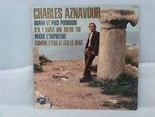 Charles Aznavour – Quand Et Puis Pourquoi                     Barclay – 71 363