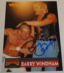 Barry Windham Signed 1999 WCW Topps Nitro Card #29 WWE Pro Wrestling Autograph