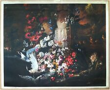 Edizioni Beatrice D'Este n.1278 -  Fiori - Flowers - Stampa su Seta - Print silk