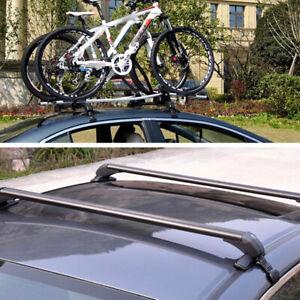 1Pair Universal Car Roof Rail Luggage Rack Baggage Carrier Cross Aluminum Alloy