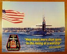 Us Navy Attack Submarine Ship Photo 8x10 Ssn-729 Uss Georgia