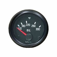 "Oil Temp gauge, 300F, VDO Genuine Cockpit 310-012, 2""/52mm, spin-loc, w/harness"