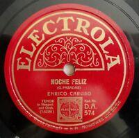 """Enrico Caruso - Noche Feliz - Tu, Ca Nun Chaigne - Electrola - /10"""" 78 RPM"""