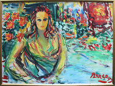 Listed Romanian Artist DIMITRIE BEREA, Original Oil Painting on Canvas Large