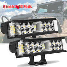 2x 860W Cree Led Work Lights Pods Spot Offroad Lamp For ATV JEEP UTE 4WD 6''