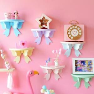 Wood Wall Shelves Storage Rack Floating Mounted Photo Display Kids Bedroom Decor
