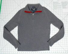 ABERCROMBIE & FITCH 1/4 Zip Sweater - Men's Size M  Ribbed Turtleneck Sweatshirt