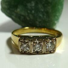 Damen Ring Weiß-Gelbgold 53 (16,8 mm Ø) 585/14k Gold Brillant 0,20 ct Diamanten