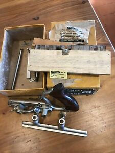 Vintage Stanley No 50 Combination Plane Boxed With Cutters