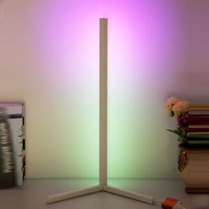 Minimalist Nordic RGB LED Corner Floor Lamp Colour Changing Smart remote and app