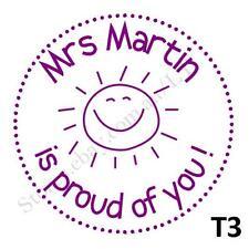 Personalised Custom Self Pre ink Teacher Address Wedding Stamps Round 40mm T3