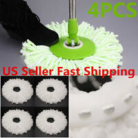 4-12x Replacement Mop Micro Head Refill For 360° Spin Magic Mop Home Cleaning