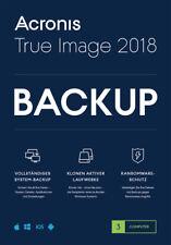 Acronis True Image 2018* 3-PC Dauerlizenz / Datensicherung/HDD-Copy / KEY