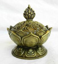 Lotus Design Brass Incense Burner / BNIB